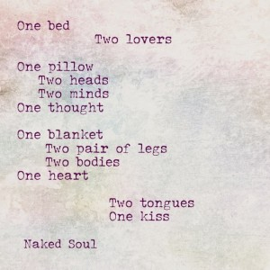 Naked Soul: One bed two lovers poem from naked soul book