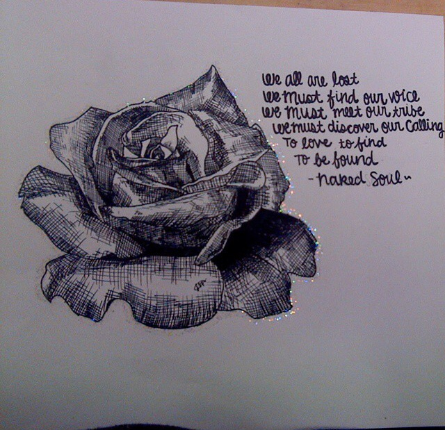 Naked Soul rose poem