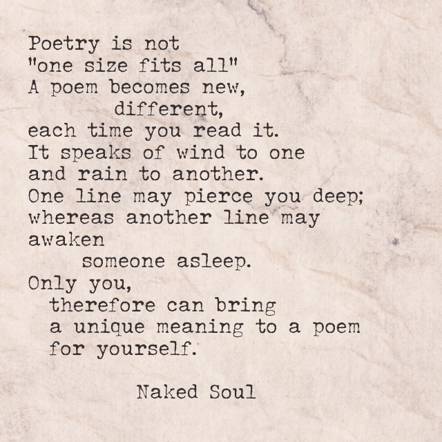 What is poetry to me