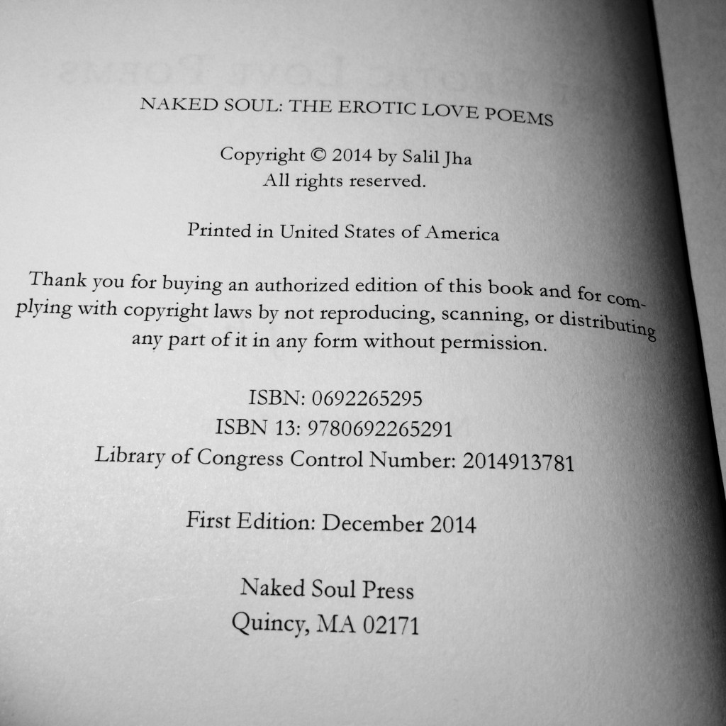 Naked Soul Book Copyright page