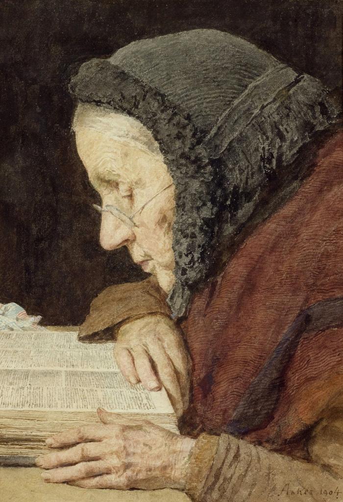 elederly lady speed reading