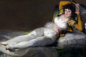 erotic visual art - male vs female perspective on erotic arts, paintings. Goya- the clothed Maja painting