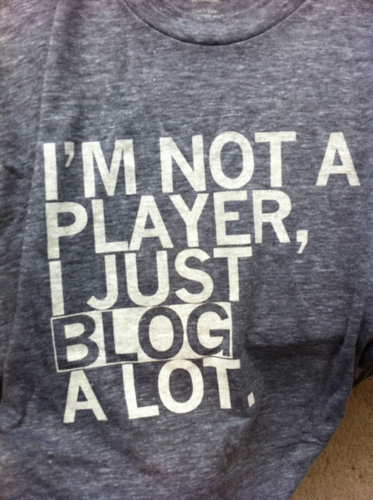I am not a player just a blogger