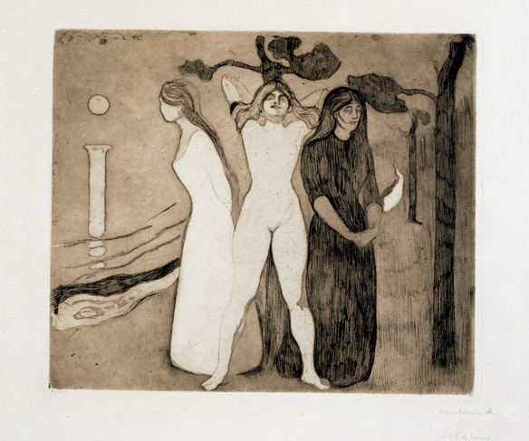 Munch's Woman in Three Stages
