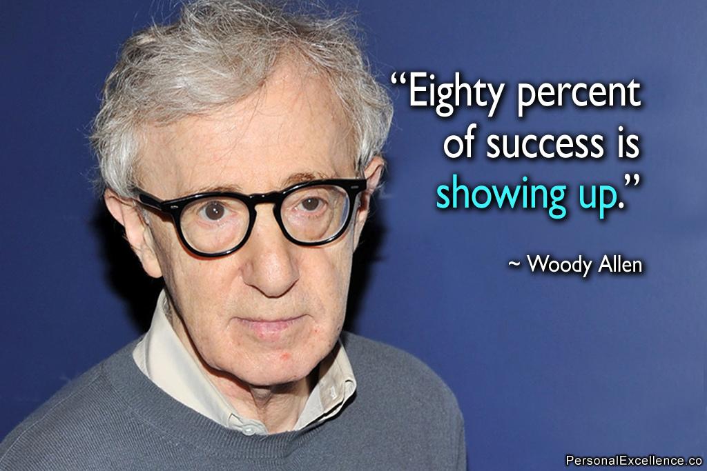 woody allen success quote