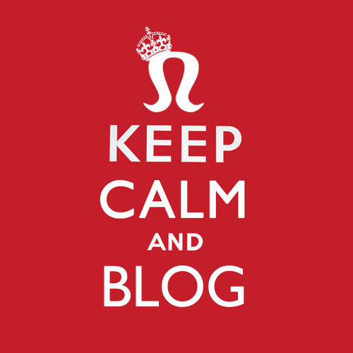 keep calm and simply blog