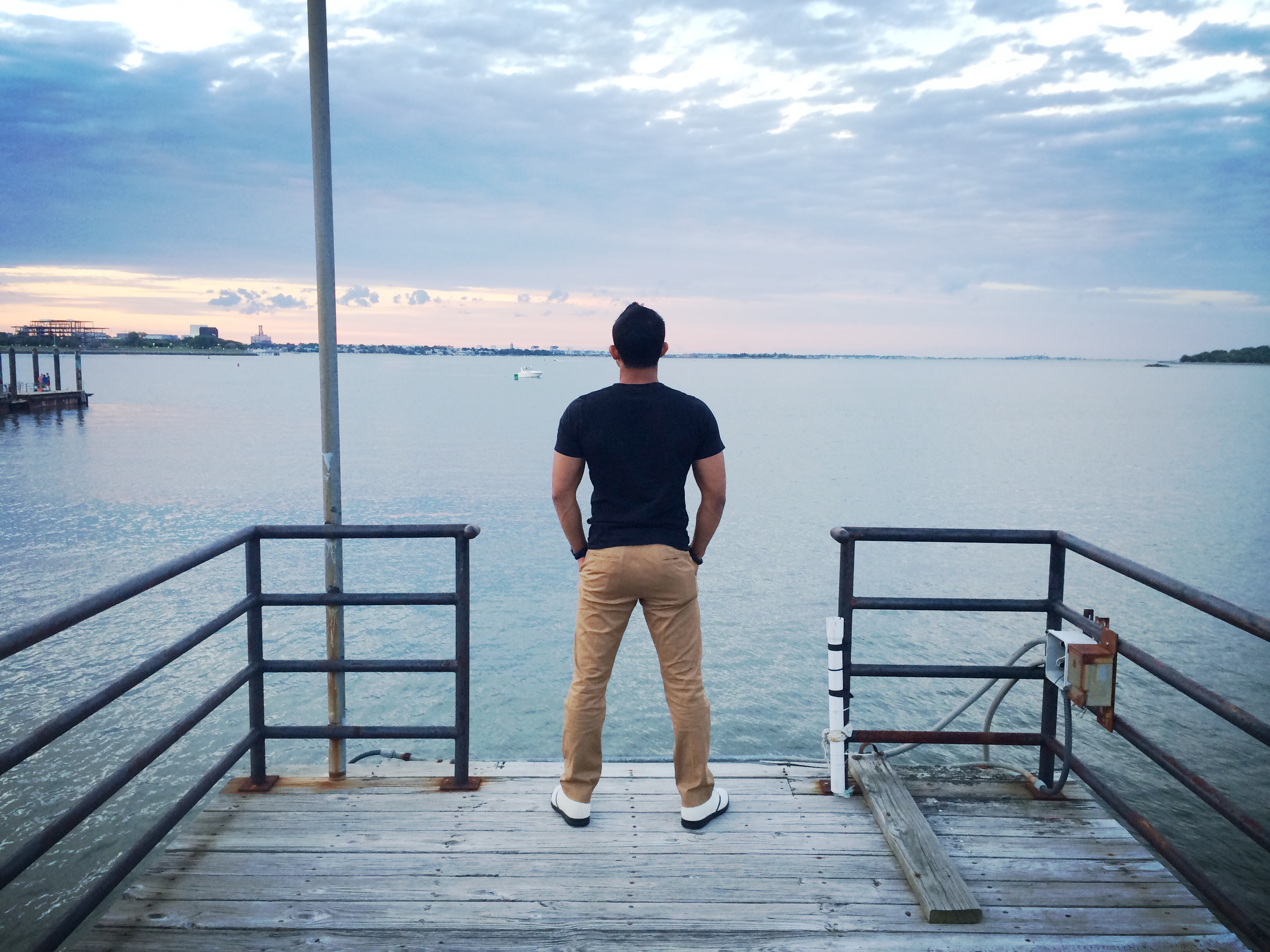 Contemplating the Philosophy of Everyday Life at Boston Harbor shore