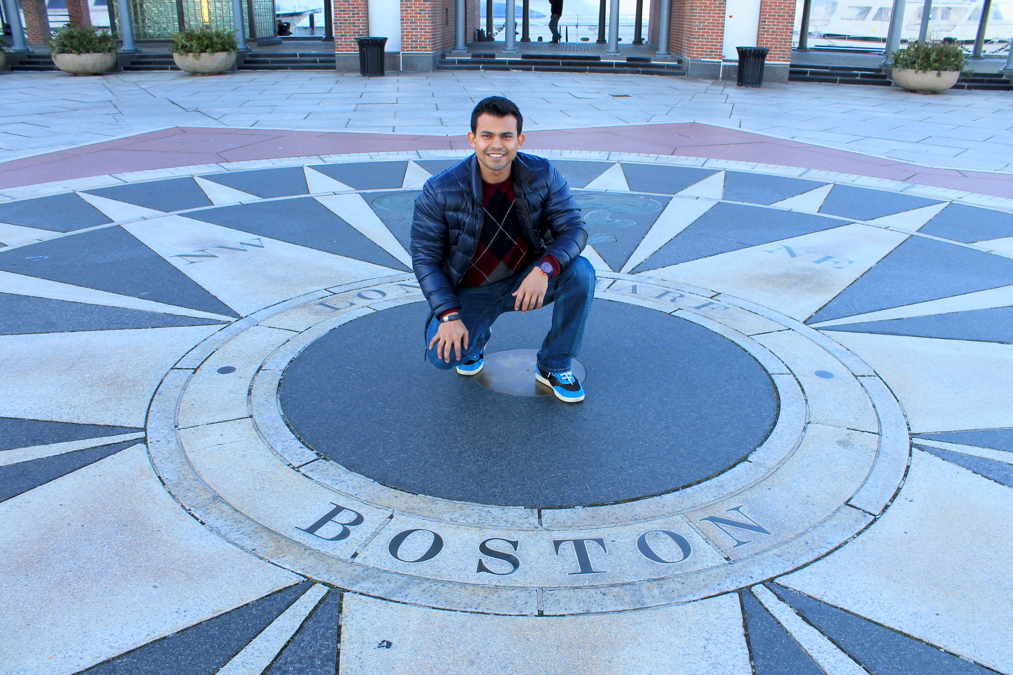 salil posing for author photoshoot in boston