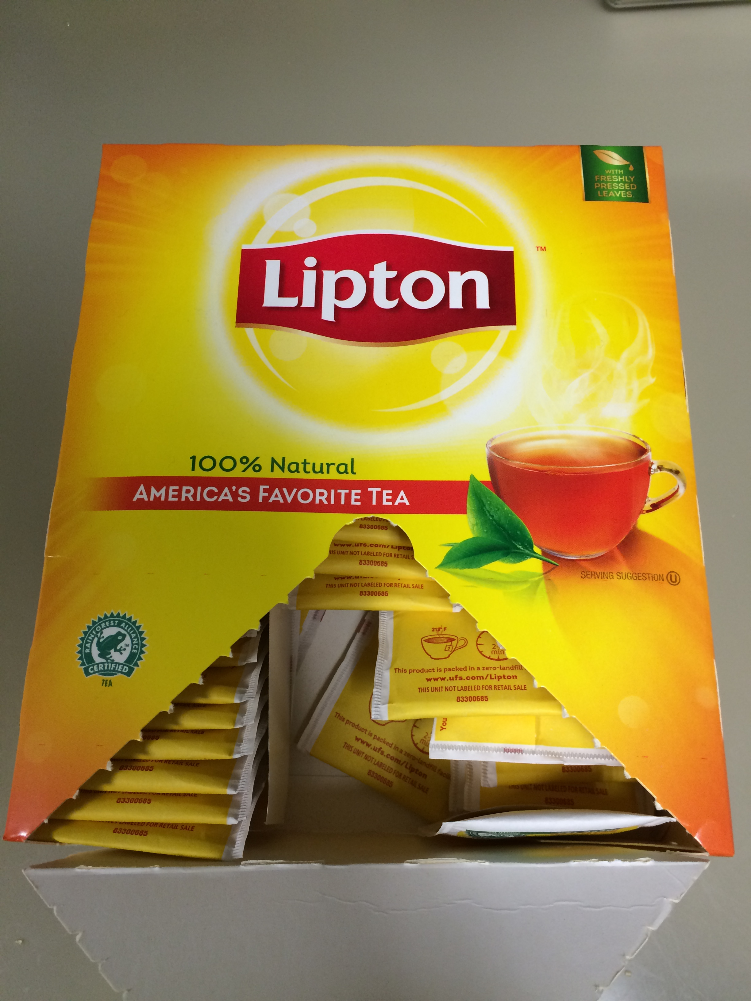 Drinking Lipton Tea on an Empty Stomach. Feeling Sick & Nauseated. Lipton green tea 1