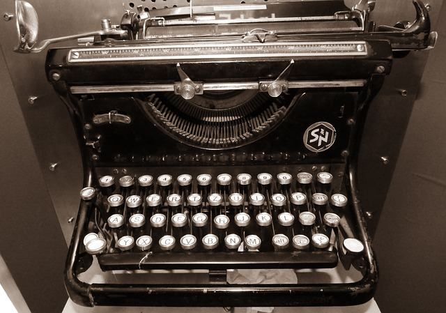 The Secrets to Writing A Million Words. An old typewriter.