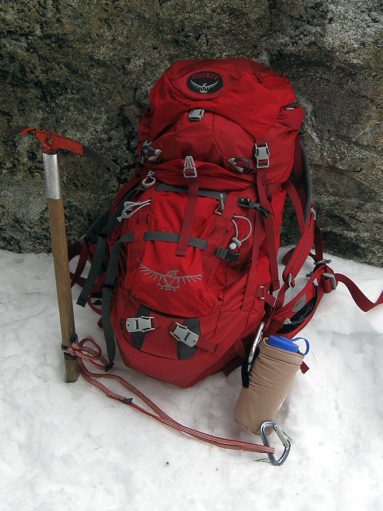 mountaineering equipment backpack
