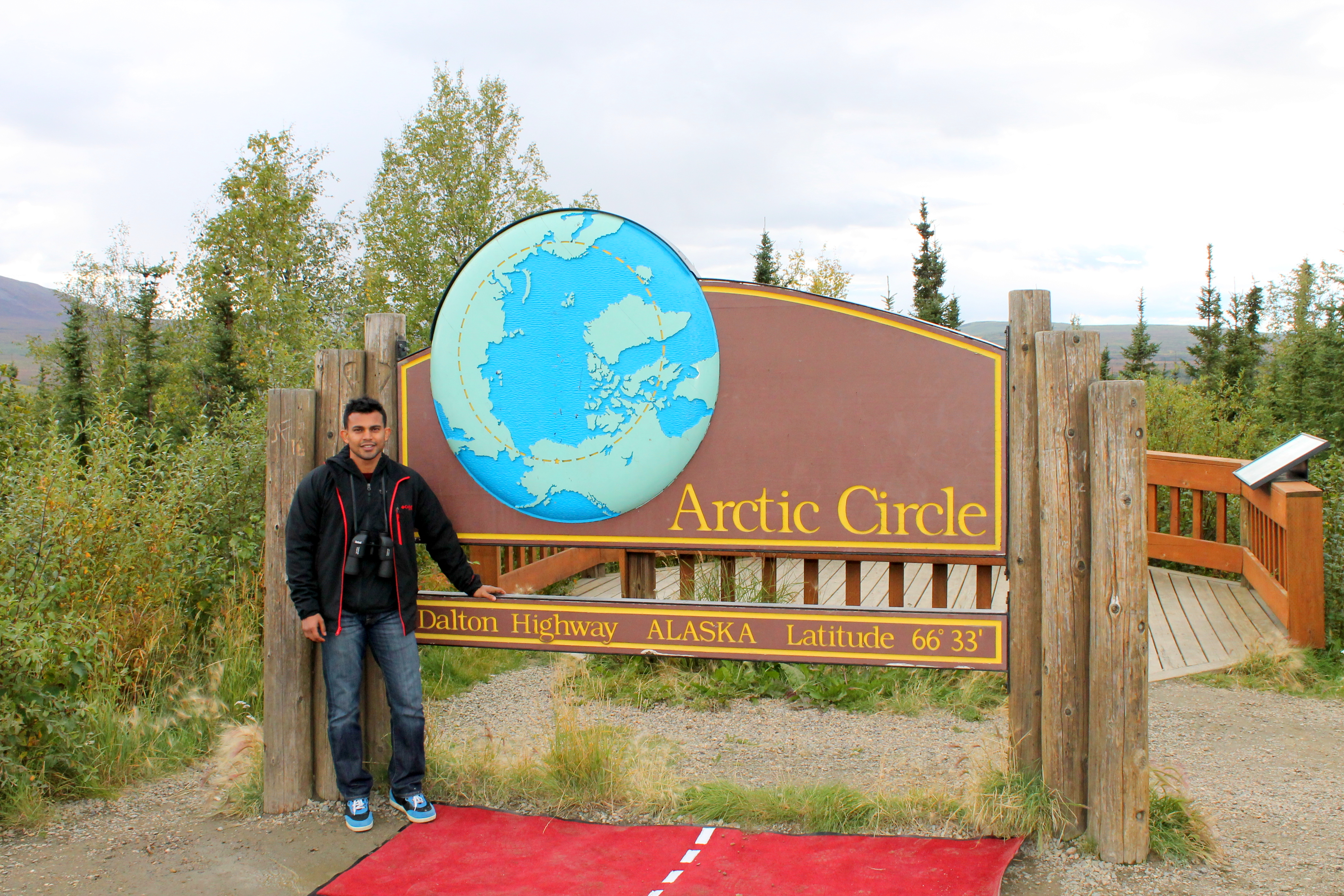 Salil Author picture crossing the arctic circle as a naked soul