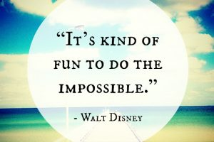 It can't be done. It's fun to do the Impossible