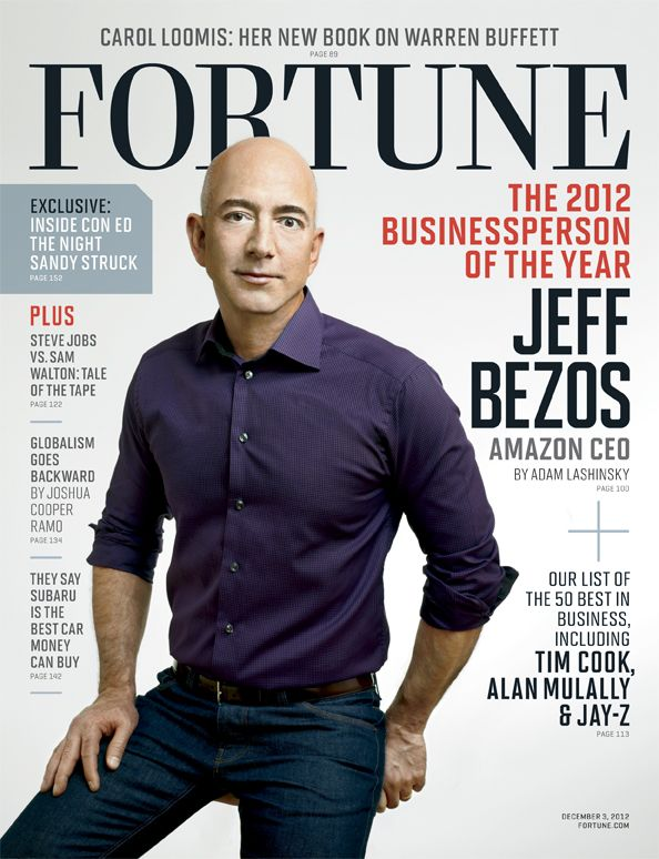 Jeff Bezos on the cover of Fortune Magazine