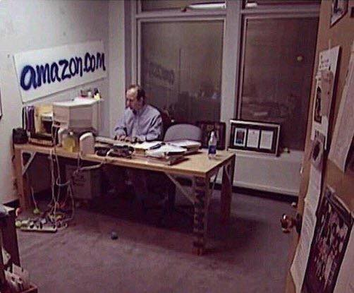 What 18 years can do in life? Jeff Bezos in 1999 doing all the work by himself.