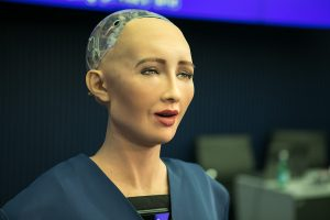 Sophia is a AI robot or Robot worker. The future of work and self managing doers